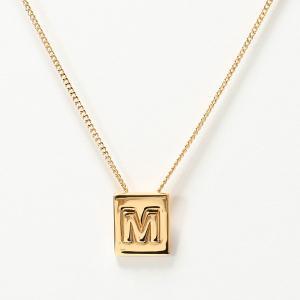 460ff3de0156 CELINE セリーヌ 46N0M6BRA.35OR M Necklace アルファベット ネックレス ブラス イニシャル Gold レディース