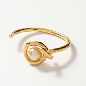 CELINE セリーヌ 46K686BPE.02IG Dot Organic Bracelet ドット オーガニック ブレスレット ブラス バングル グラスパール Ivory-Gold #oldceline【訳有】|s-musee