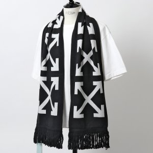 OFF-WHITE オフホワイト VIRGIL ABLOH OMMA001E19407006 1088 THERMO MAN SCARF マフラー フリンジ ストール メンズ|s-musee