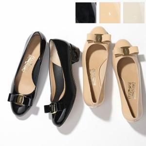 SALVATORE FERRAGAMO サルヴァトーレフェラガモ VARA 1 591963 パテントレザー ヒールパンプス ヴィラリボン NERO 靴 レディース|s-musee