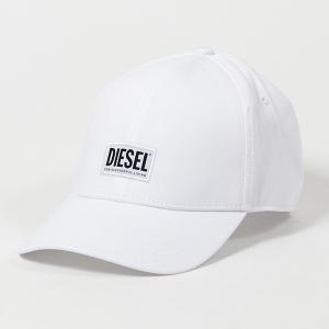DIESEL ディーゼル SYQ9 BAUI CORRY HAT ロゴプリント ベースボールキャップ 帽子 100/ホワイト ユニセックス|s-musee