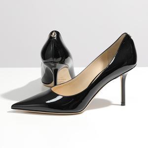 Jimmy Choo ジミーチュウ LOVE 85 PWJ  JCロゴ パテントレザー ポインテッドトゥ ヒール パンプス BLACK 靴 レディース|s-musee
