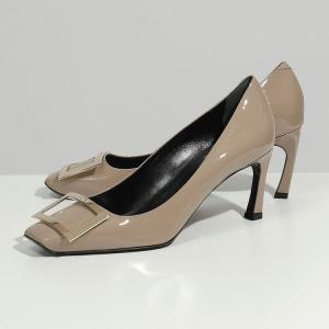ROGER VIVIER ロジェヴィヴィエ RVW40015280D1P C415 トランプットパンプス パテントレザー ヒール C415DAINO 靴 レディース|s-musee