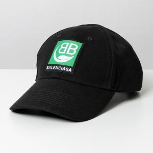 BALENCIAGA バレンシアガ 593188 410B2 1000 ベースボールキャップ 帽子 ...