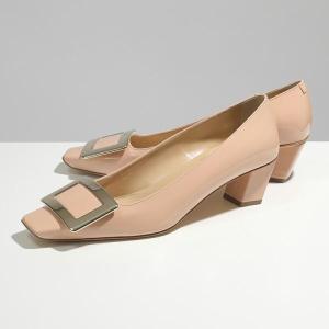 ROGER VIVIER ロジェヴィヴィエ RVW00600920 D1P DECOLLETE BELLE ゴールドプレート パテントレザー パンプス 靴 M06/ROSASALMONE レディース|s-musee