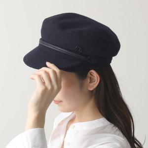 Maison Michel  メゾンミッシェル 2213033002 NEW ABBY HAT 19PF TM ニュー アビー ウール キャスケット キャップ 帽子 NAVY レディース|s-musee