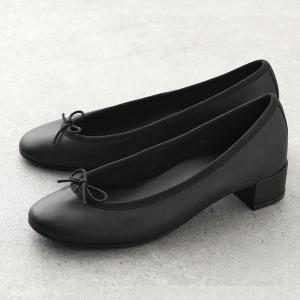 repetto レペット V080 VE Lou Ballerinas AD ルー バレリーナ レザー バレエシューズ ミドルヒール パンプス ミティックゴムライン 410/Noir 靴 レディース|s-musee