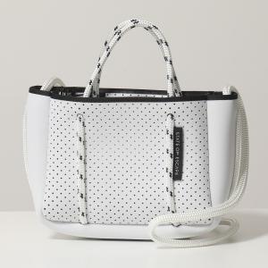 State of Escape ステイトオブエスケープ Micro ネオプレン マイクロ トートバッグ ショルダーバッグ ポシェット 軽量 キーフック付き White 鞄 レディース|s-musee