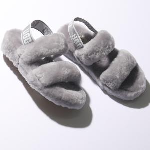 UGG アグ 1107953 W OH YEAH オー イヤー ファー サンダル ロゴバンド スリッパ 靴 SAMT レディース|s-musee