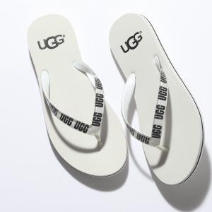UGG アグ 1099831 W SIMI GRAPHIC シミ グラフィック トング ビーチサンダル ビーサン ロゴ 靴 WHITE レディース|s-musee
