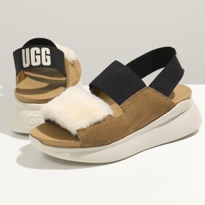 UGG アグ W SILVERLAKE シルバーレイク 1101919 レザー×ファー ゴムベルト サンダル プラットフォーム シューズ CTNR 靴 レディース|s-musee