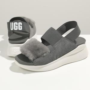 UGG アグ W SILVERLAKE シルバーレイク 1101919 レザー×ファー ゴムベルト サンダル プラットフォーム シューズ CHRC 靴 レディース|s-musee