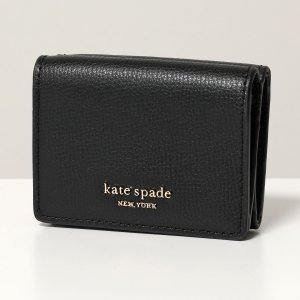 Kate spade ケイトスペード PWRU7395 sylvia mini trifold wallet シルビア レザー 三つ折り財布 ミニ財布 豆財布 001/black レディース|s-musee