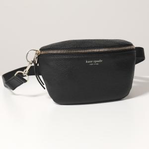 Kate spade ケイトスペード PXRUA366 レザー ボディバッグ ベルトバッグ ウエストポーチ 001/black 鞄 レディース|s-musee
