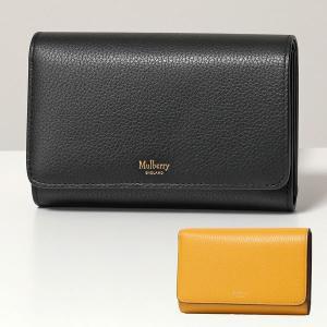 Mulberry マルベリー RL5073 205 レザー 二つ折り財布 ミディアム 財布 A100/Black レディース|s-musee