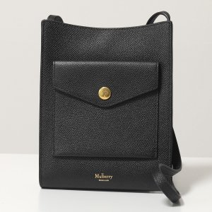 Mulberry マルベリー RL6199 161 M Phone Pouch プレススタッズ ミディアム フォンポーチ レザー ポーチ ショルダーバッグ 鞄 A100/Black レディース|s-musee