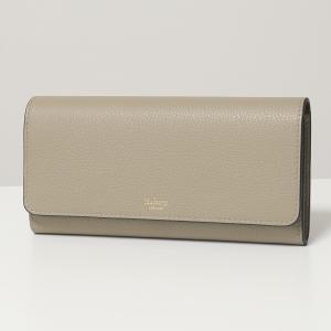Mulberry マルベリー RL4440 205 Continental Wallet レザー 二つ折り長財布 財布 ロゴ D646/Solid-Grey レディース|s-musee