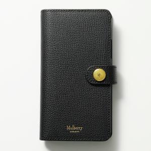 Mulberry マルベリー RL6212 690 iPhone X Flip Case New iPhoneX専用ケース レザー フリップケース ブックレットケース  カバー A100/Black レディース|s-musee