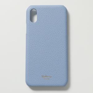 Mulberry マルベリー RL5914 013 iPhone X Cover iPhoneXS専用ケース スマホ レザー カバー D159/Pale-Slate レディース|s-musee