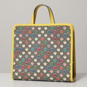 GUCCI グッチ 605614 HYTEN GGハート トートバッグ コーテッドキャンバス ハンドバッグ 鞄 8939/B.EB.MULTIC-FREESIA レディース|s-musee