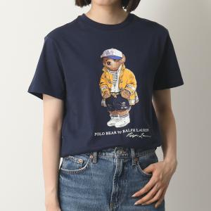 POLO Ralph Lauren ポロ ラルフローレン 323 785950 BASIC JERSEY 004/NAVY クルーネック 半袖 Tシャツ カットソー ベアプリント レディース|s-musee