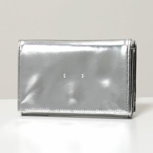 PB0110 ピービーゼロワンワンゼロ CM34 レザー 三つ折り財布 ミニ財布 豆財布 Silver レディース|s-musee