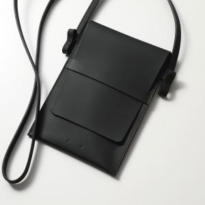 PB0110 ピービーゼロワンワンゼロ AB88.2 ショルダーバッグ ポシェット ネックポーチ レザー フラット 鞄 Black レディース メンズ|s-musee