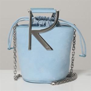ROGER VIVIER ロジェヴィヴィエ RBWANNK0100HR0U024 RV MINI BAG スウェードレザー チェーン ショルダーバッグ ポシェット 鞄 レディース|s-musee