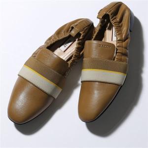 BALLY バリー BECCA FLAT ELASTIC 07 ベッカ レザー フラットシューズ ローヒール シャーリング パンプス 靴 74608/COWBOY-17 レディース|s-musee