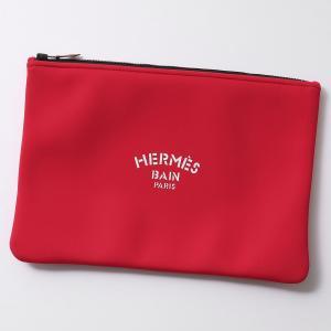 HERMES エルメス 103161M 01 GM TROUSSE NEOBAIN ネオプレン フラットポーチ クラッチバッグ ROUGE レディース メンズ|s-musee
