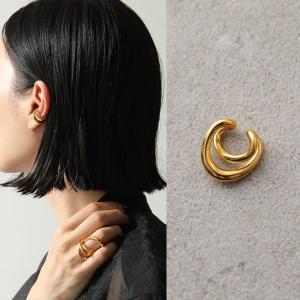 Charlotte Chesnais シャルロットシェネ イヤーカフ レディース 19BO081VER VERMEIL Initial Ear Cuff 18Kゴールドメッキ イヤカフ 片耳販売 アクセサリー|s-musee