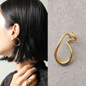 Charlotte Chesnais シャルロットシェネ イヤーカフ レディース 20BO087VER VERMEIL Drop Cuff Earring 18Kゴールドメッキ イヤカフ 片耳販売 アクセサリー|s-musee