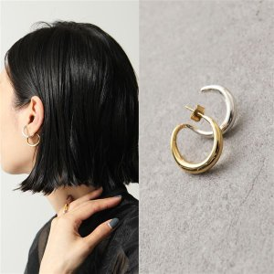 Charlotte Chesnais シャルロットシェネ ピアス レディース 18BO061VEAR VERMEIL&ARGENT Curl Earring 18Kゴールドメッキ シルバー925 片耳販売|s-musee