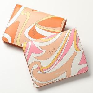 EMILIO PUCCI エミリオプッチ 二つ折り財布 カラー2色 レディース 1USM79 1U025 ミニ財布 Nuagesプリント レザー|s-musee