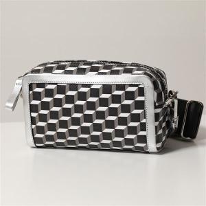 PIERRE HARDY ピエールアルディ ショルダーバッグ レディース SV05 BLACK-WHITE-SILVER CUBE BOX CAMERA BAG カメラ バッグ PVC×レザー ポシェット 鞄|s-musee