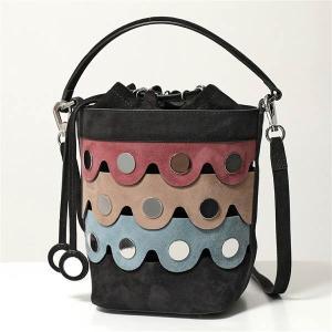 PIERRE HARDY ピエールアルディ バケットバッグ レディース MV04 MULTI-BLACK-PINK PENNY ペニー ショルダーバッグ ハンドバッグ スウェードレザー 鞄|s-musee