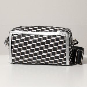 PIERRE HARDY ピエールアルディ ショルダーバッグ レディース VV08 BLACK-WHITE-SILVER MAX CUBE BOX CAMERA BAG カメラバッグ マックス ポシェット 鞄|s-musee
