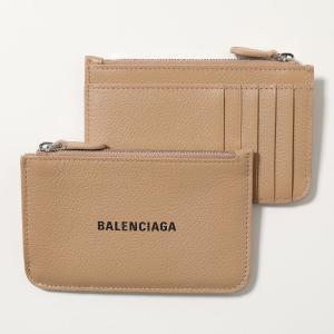 BALENCIAGA バレンシアガ コインケース カードケース レディース 637130 1IZI3 9690/NUDEBEIGE-LBLACK レザー パスケース ミニ財布 フラグメントケース|s-musee