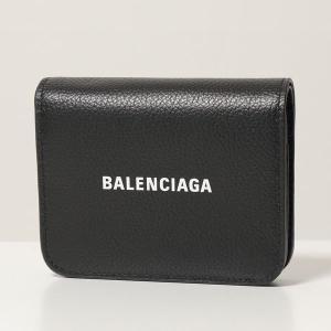 BALENCIAGA バレンシアガ 二つ折り財布 レディース 655624 1IZIM 1090/BLACK-LWHITE レザー ロゴ ミニ財布|s-musee
