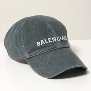 BALENCIAGA バレンシアガ ベースボールキャップ レディース 673319 410B2 HAT LOGO FRONT CAP 0117 ロゴ刺繍 帽子 コットン|s-musee