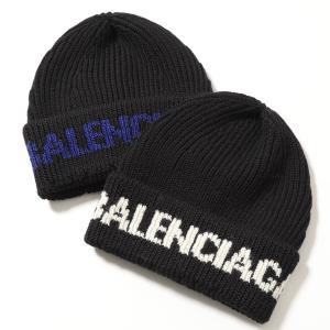 BALENCIAGA バレンシアガ ニット帽 カラー2色 レディース 675327 T1615 リブ ロゴ ウール 帽子|s-musee