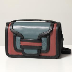 PIERRE HARDY ピエールアルディ ショルダーバッグ レディース QV08 BLUE-OLDPINK ALPHA アルファ レザー ポシェット ハンドバッグ クラッチバッグ 鞄|s-musee
