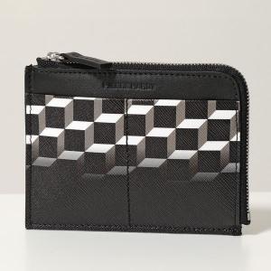 PIERRE HARDY ピエールアルディ コイン&カードケース レディース メンズ TW01 DEGRADE-BLACK-BLACK PVC×レザー ミニ財布 フラグメントケース|s-musee