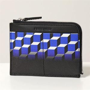 PIERRE HARDY ピエールアルディ コイン&カードケース レディース メンズ TW01 DEGRADE-BLUE-BLACK PVC×レザー ミニ財布 フラグメントケース|s-musee
