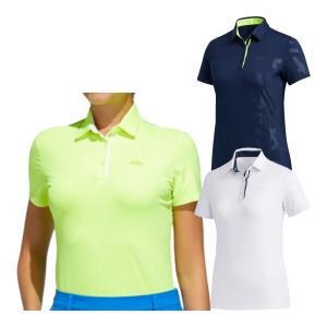 レディース アディダス ゴルフ 半袖ポロシャツ エンボスプリント ゴルフウェア HAD74|s-puresuto