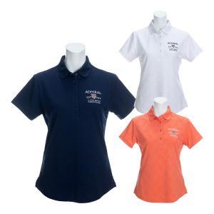 レディース アドミラルゴルフ 半袖ポロシャツ ブリッツジャガード ラウンドカラー ゴルフウェア ADLA021|s-puresuto