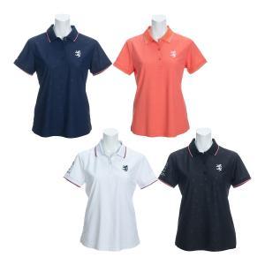 レディース アドミラルゴルフ 半袖ポロシャツ ランパントエンボス ゴルフウェア ADLA023|s-puresuto