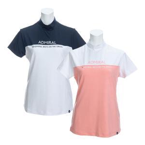 レディース アドミラルゴルフ 半袖ハイネックシャツ バイカラー ゴルフウェア ADLA025|s-puresuto