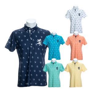 アドミラルゴルフ ボタンダウン半袖ポロシャツ ブライトンバード ゴルフウェア メンズ ADMA048|s-puresuto