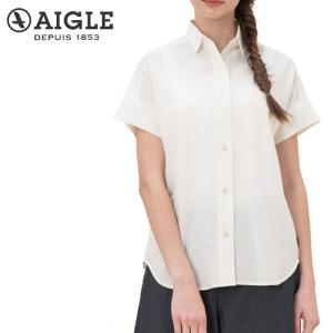 レディース エーグル AIGLE コットンリネン リラックスシルエットシャツ ZCF014J UVカット s-puresuto